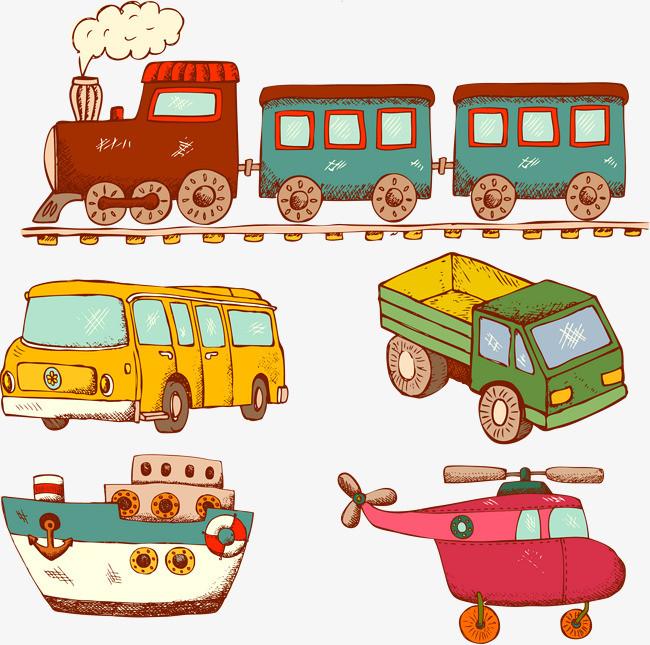 矢量卡通交通工具素材小货车图片