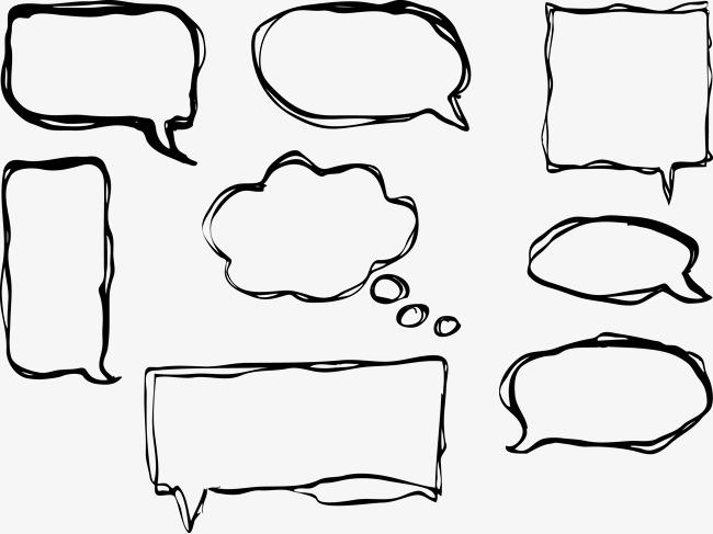 90设计提供高清png手绘动漫素材免费下载,本次漫画中的对话框矢量图作