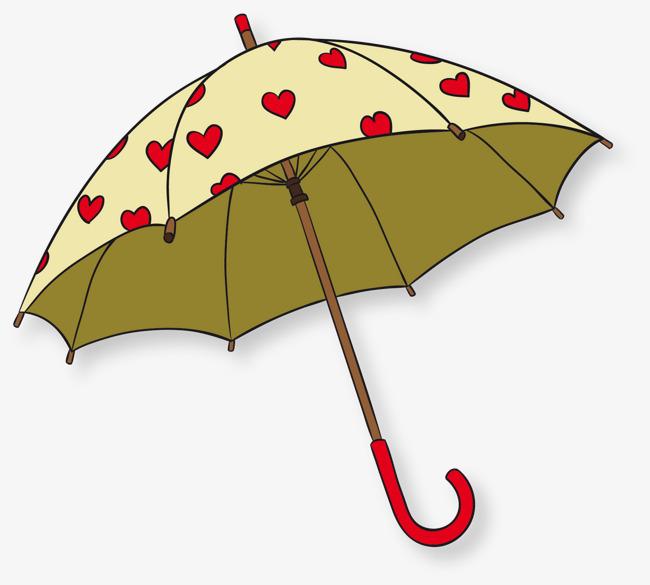 矢量手绘雨伞
