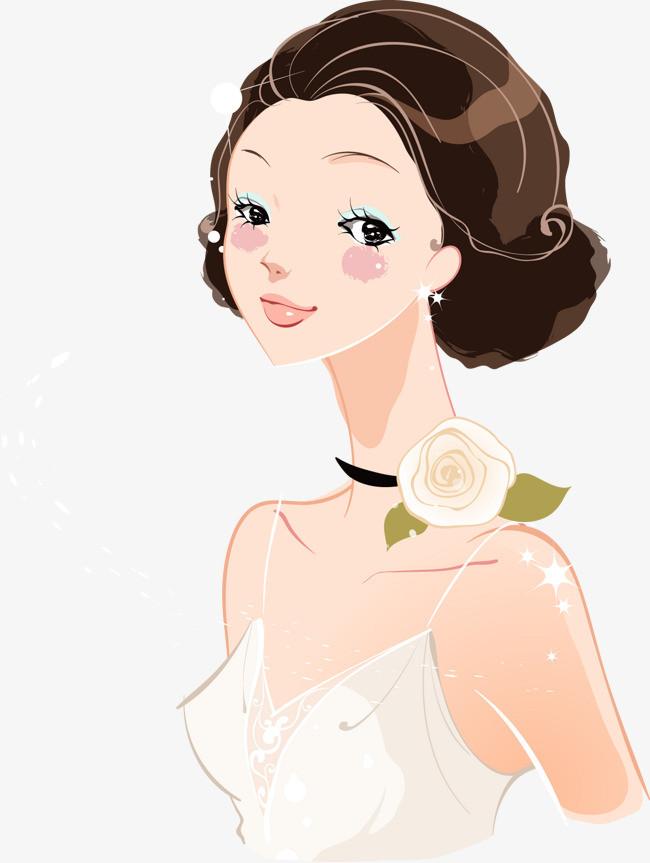 矢量手绘新娘