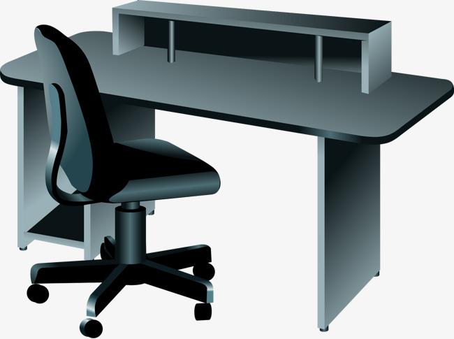 矢量手绘办公桌椅