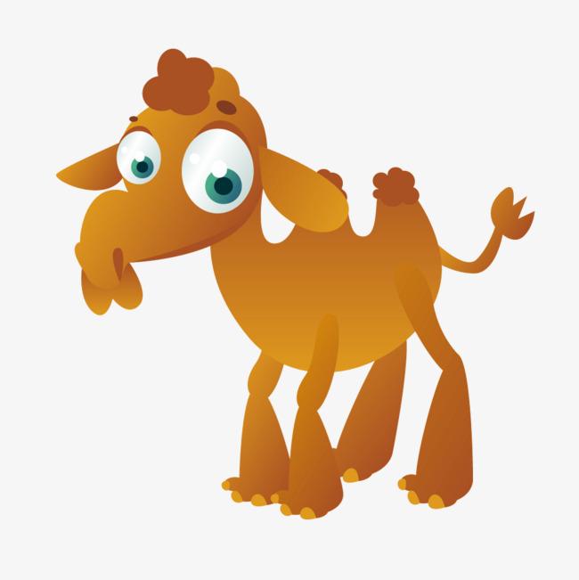 矢量卡通动物黄色渐变骆驼图片