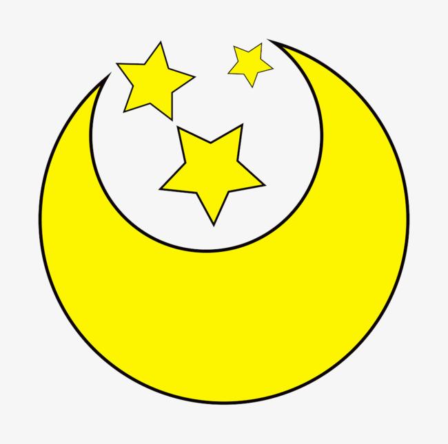 图片 卡通月亮 > 【png】 月亮星星  分类:手绘动漫 类目:其他 格式
