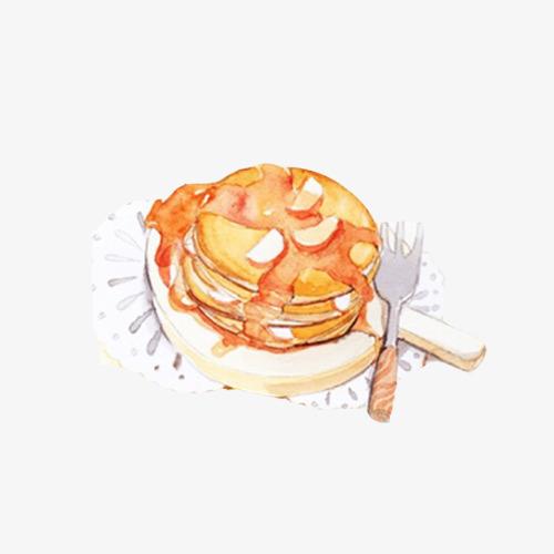 华夫饼手绘画素材图片