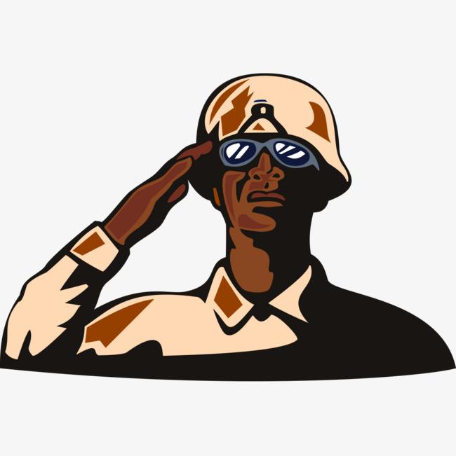 士兵卡通漫画头像