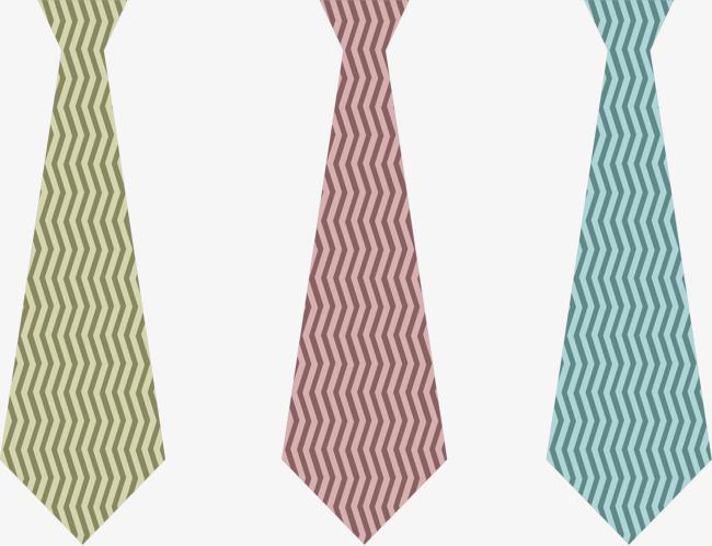 矢量手绘彩色领带【高清png素材】-90设计