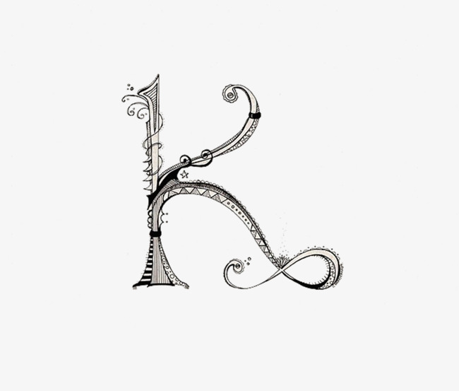 手绘创意字母k