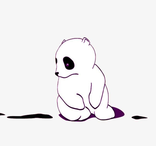 卡通大白熊