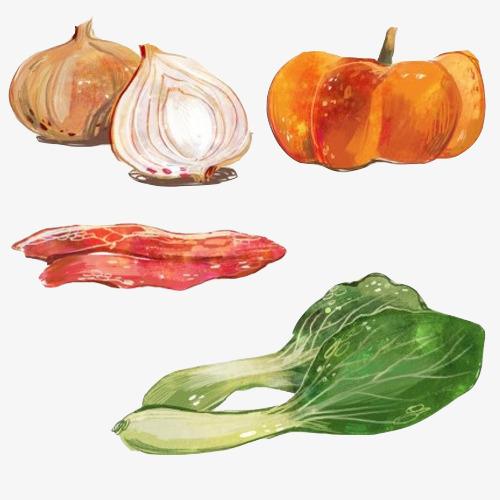 蔬菜食材手绘画素材图片