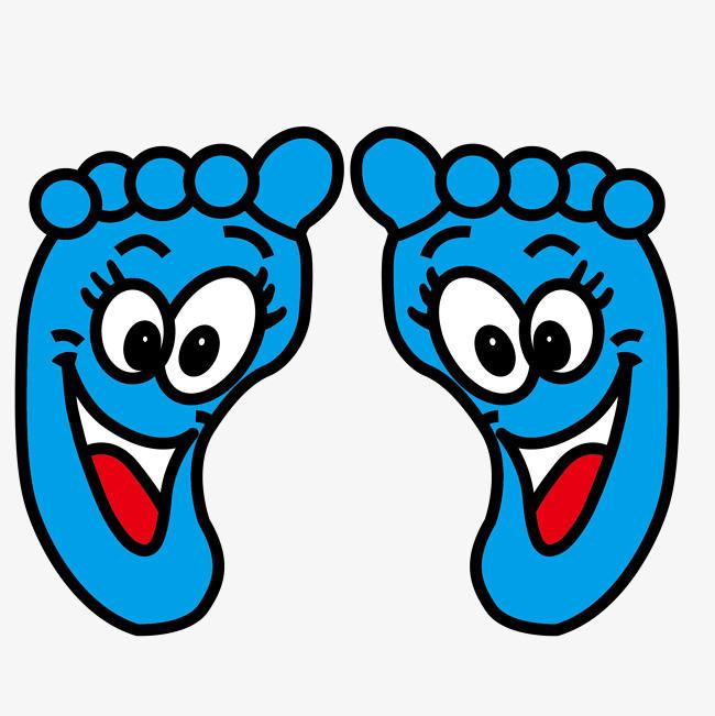 可爱卡通笑脸双脚矢量图图片