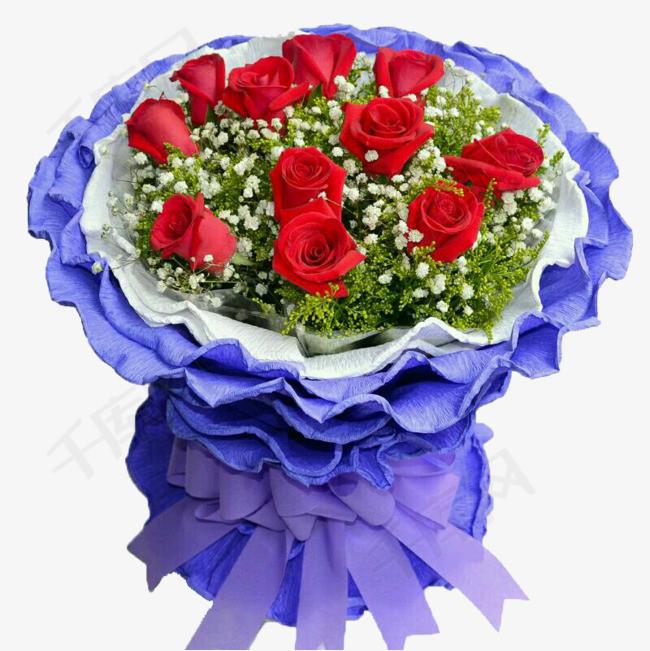 百合花艺红玫瑰99朵