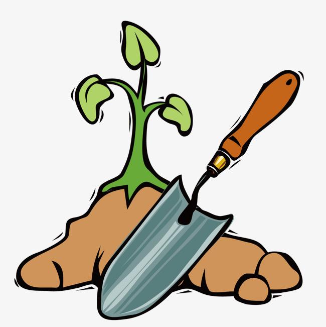 手绘园丁铲子图片