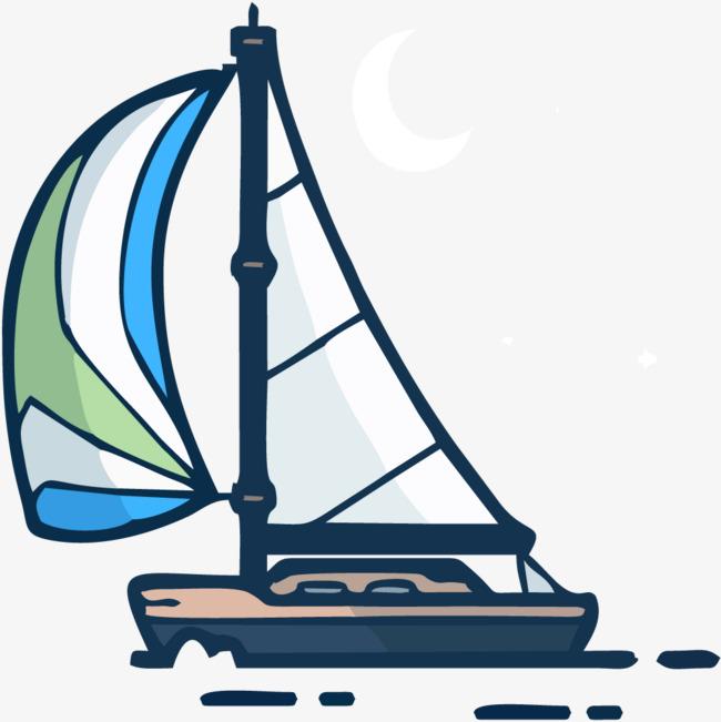 手绘卡通_手绘帆船png素材-90设计