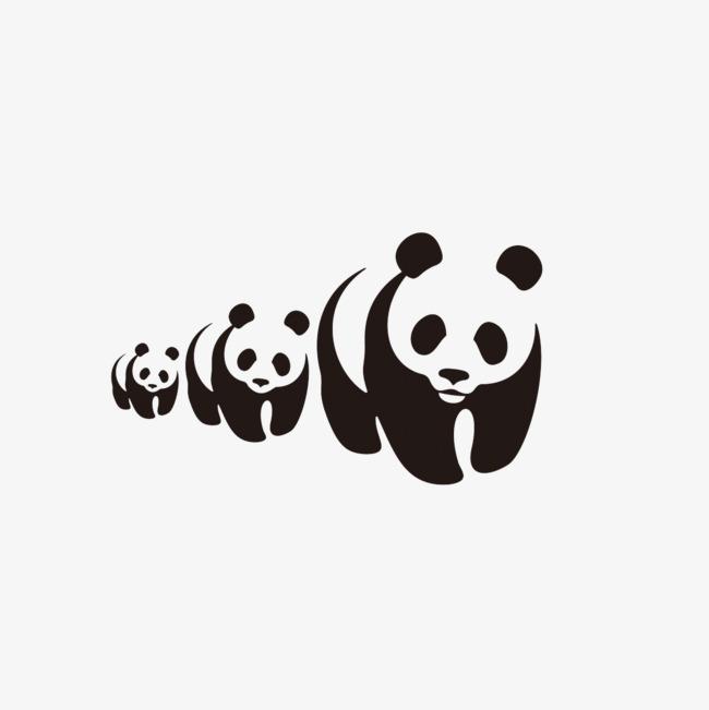 卡通手绘熊猫