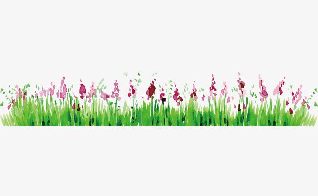 矢量手绘花丛