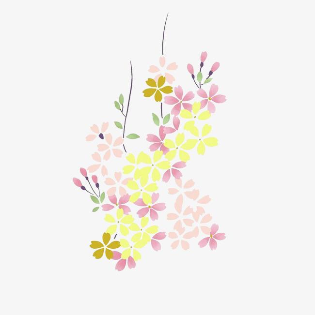 手绘背景_手绘鲜花png素材-90设计