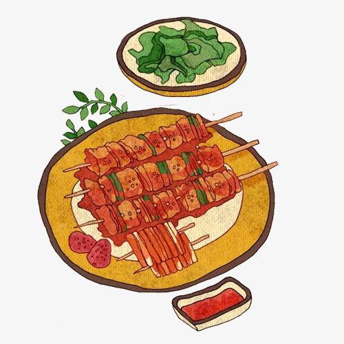 串串大叔手绘画素材图片