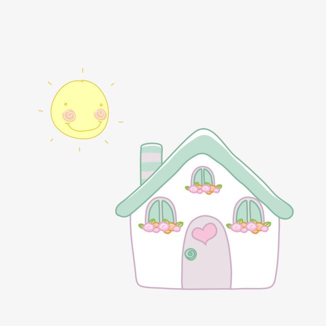 手绘阳光的小房子