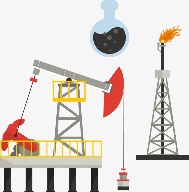 石油提炼_提炼石油插图矢量图