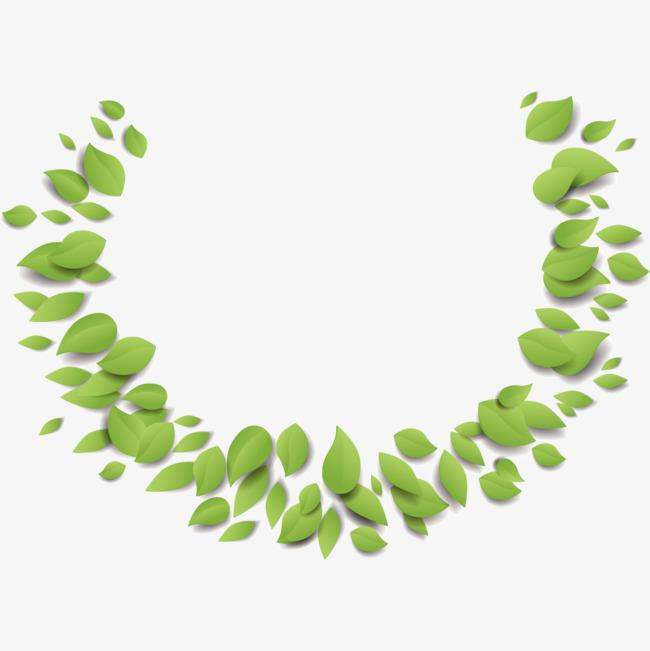 绿色叶子藤蔓植物边框