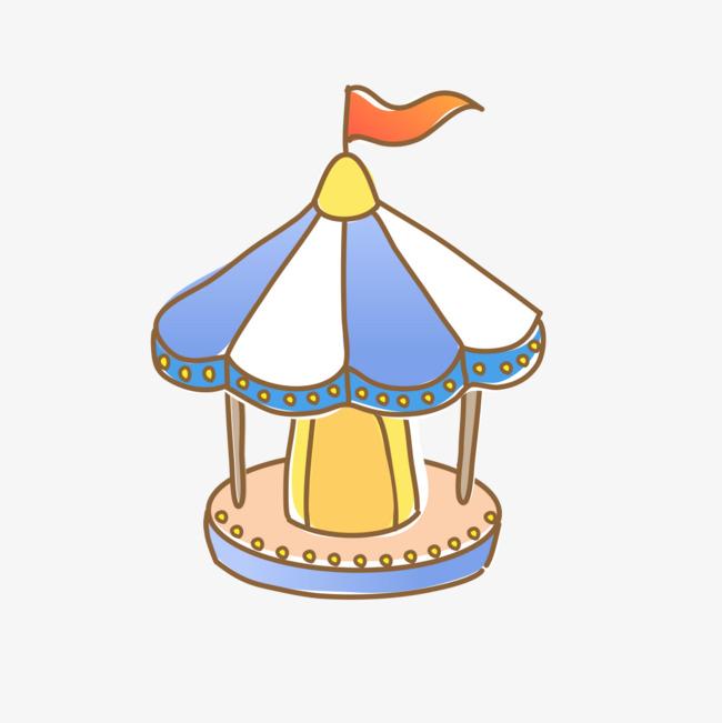 手绘卡通的帐篷