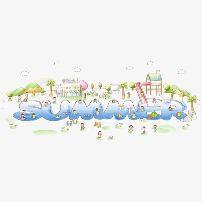 手绘游戏乐园图案