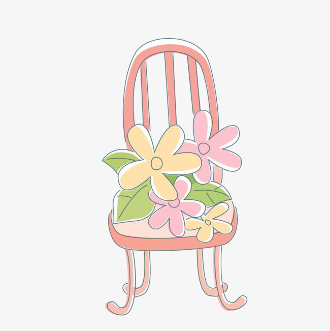 手绘粉红的椅子图案