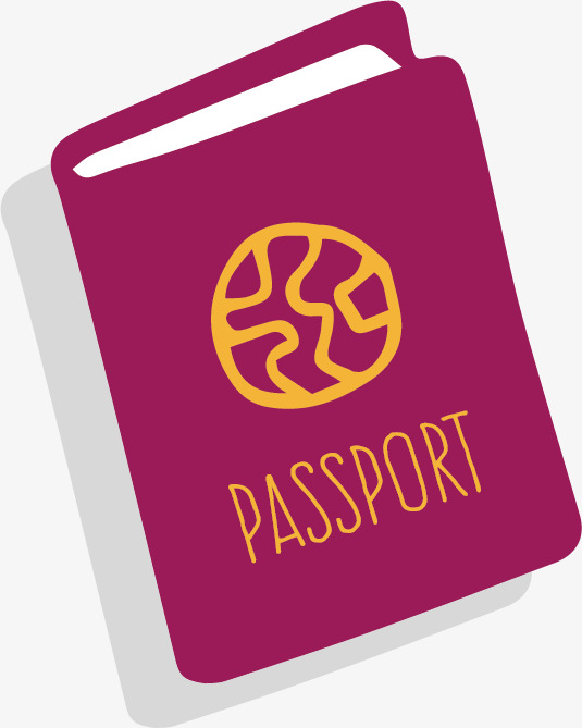 卡通护照图案图片