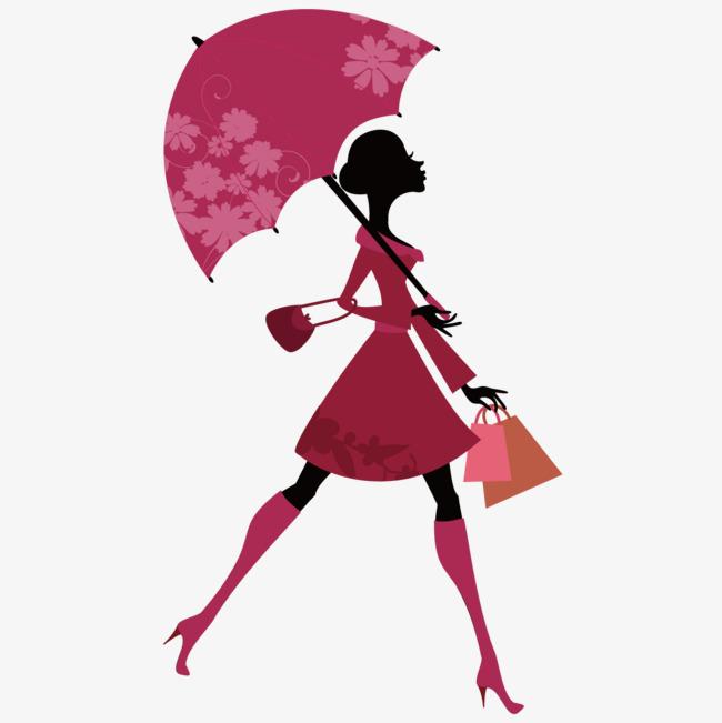 图片 > 【png】 卡通撑伞女人  分类:手绘动漫 类目:其他 格式:png
