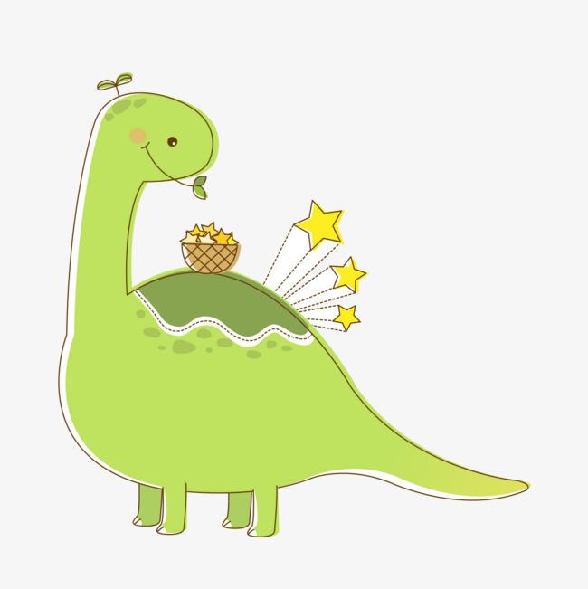 绿色卡通恐龙图片图片