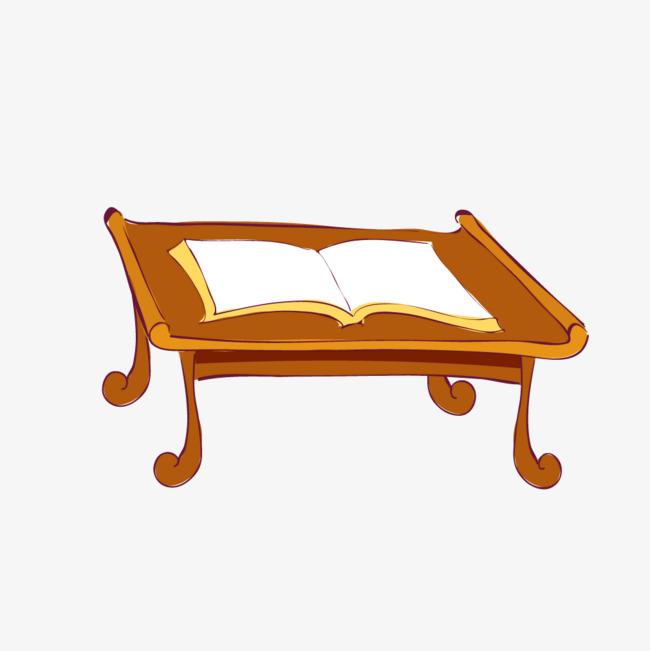 黄色质感古代书桌