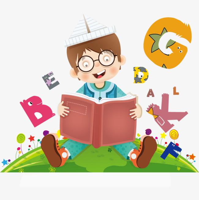 学习英语的男孩素材图片免费下载 高清装饰图案psd 千库网 图片编号6926239