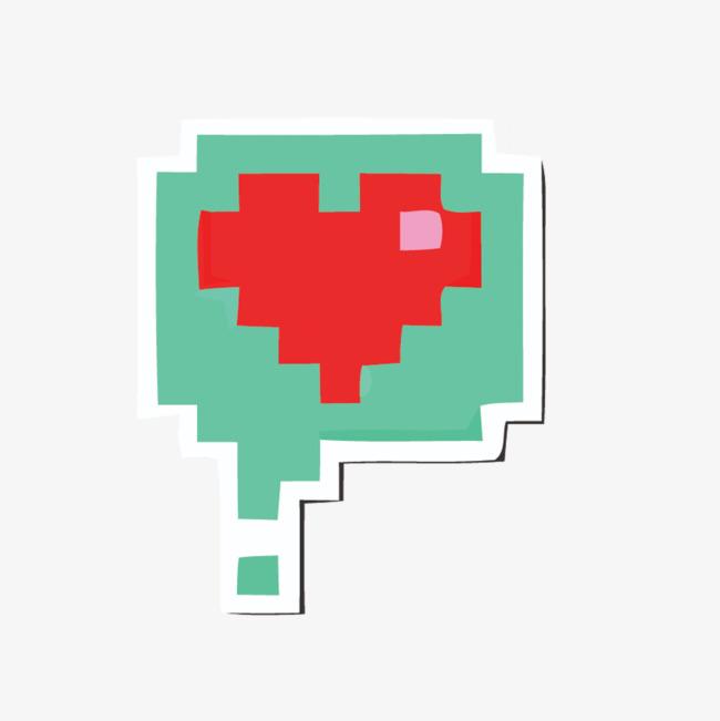 矢量绿色对话框爱心素材