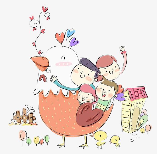 幼儿房间玩耍图片手绘