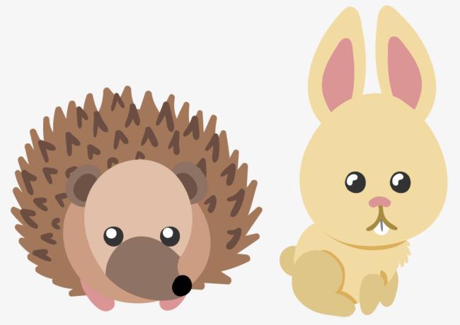 刺猬小兔子动物