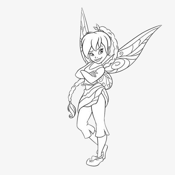 手绘带翅膀女孩