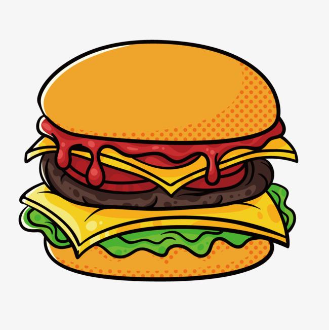 图片 卡通背景 > 【png】 卡通汉堡  分类:手绘动漫 类目:其他 格式:p