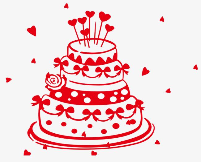 蛋糕简笔画png素材-90设计图片