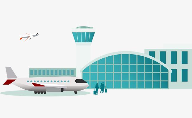 矢量手绘机场