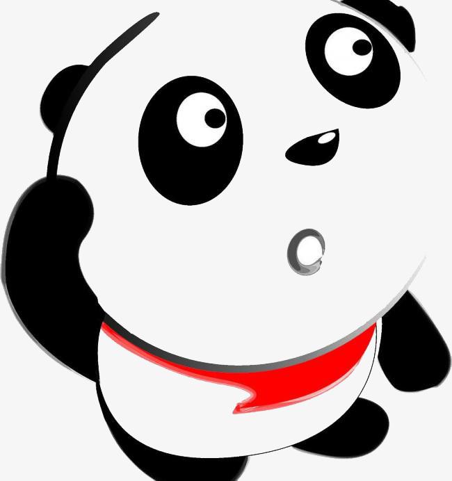 大熊猫疑问表情素材图片