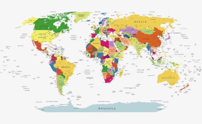 创意世界地图简单手绘展示