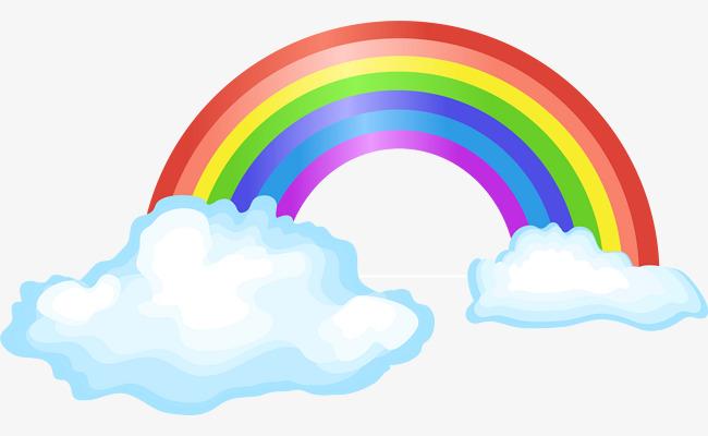 矢量手绘彩虹