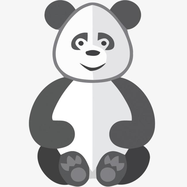 矢量手绘大熊猫素材