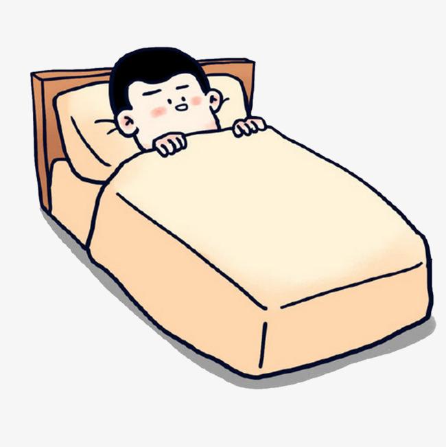 躺在床上的卡通人物图片