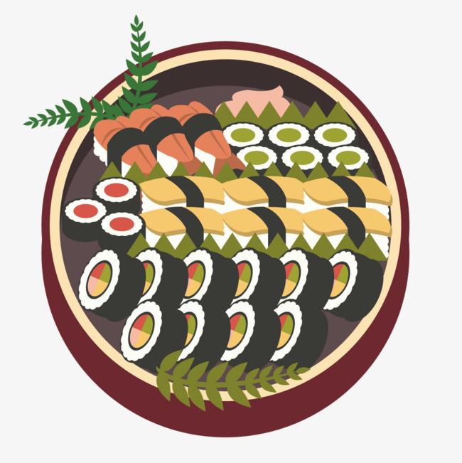 图片 > 【png】 一锅美味寿司  分类:手绘动漫 类目:其他 格式:png 体