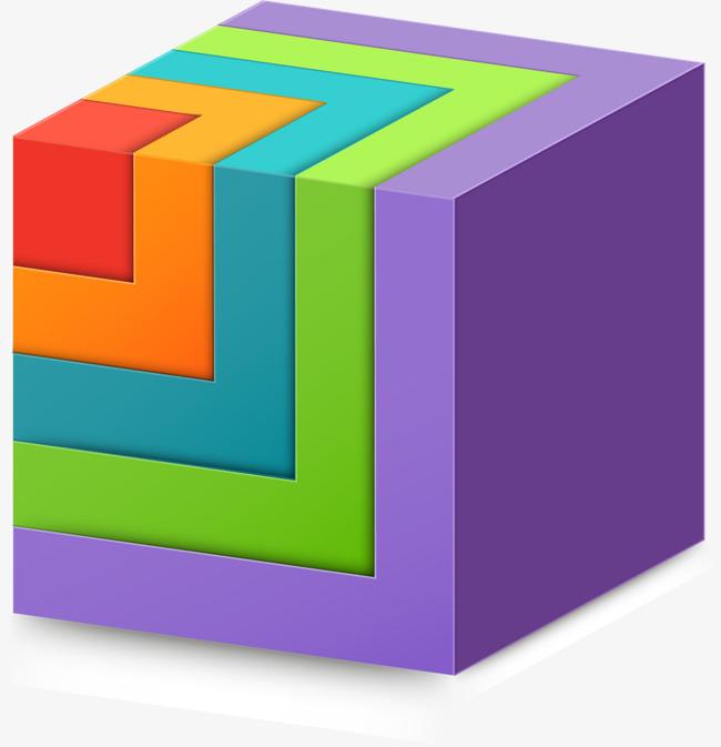 矢量手绘彩色正方形