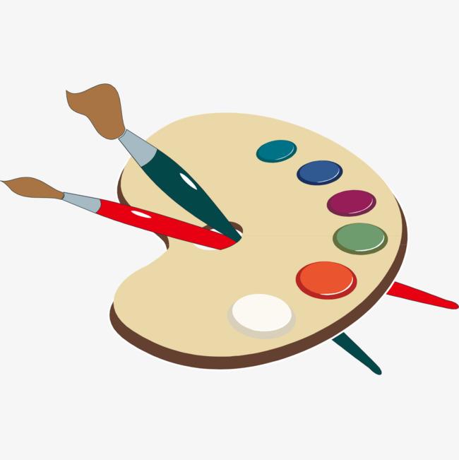 手绘彩色颜料