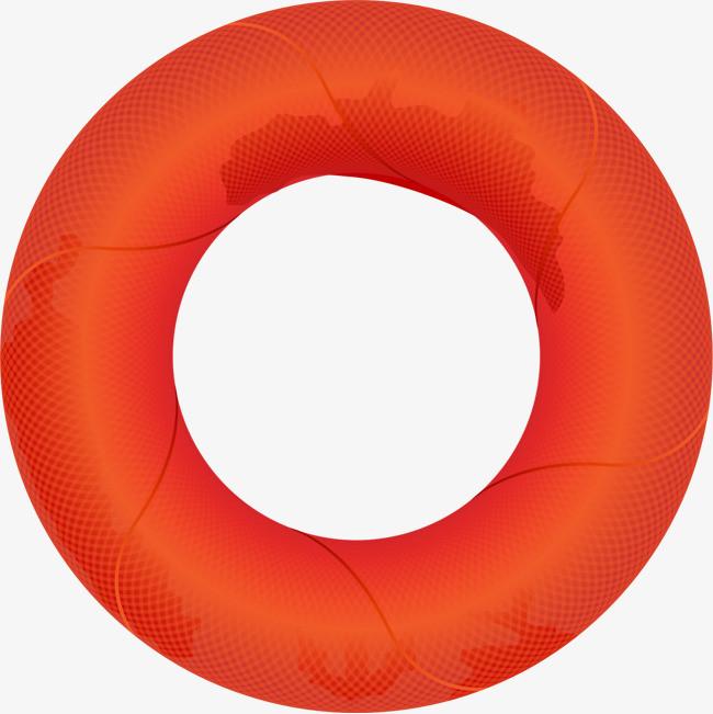 矢量手绘游泳圈【高清png素材】-90设计