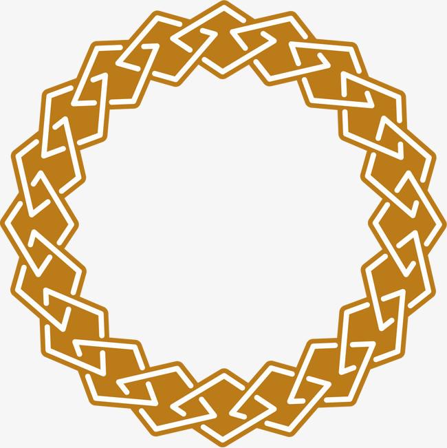 橘色圆圈虚线圆元素