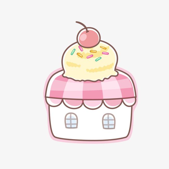 手绘蛋糕房屋模型图片